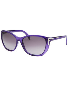 Women's Square Translucent Purple Sunglasses FENDISUN - FS5219-513-58-15-130