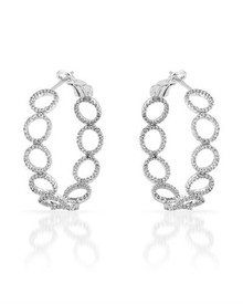 Hoops 14K White Gold  Earrings With Diamonds