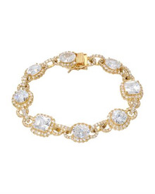 Gold plated Silver Bracelet With Cubic zirconia