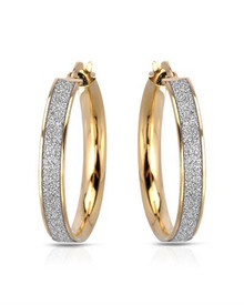MILLANA Made in Italy Gold plated Silver Hoops Earrings