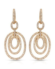 Gold plated Silver Earrings With Cubic zirconia