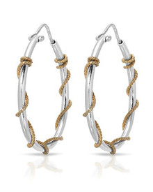 14K/925 Gold plated Silver Hoops Earrings