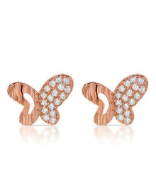 MCCARNEY & J 14K/925 Gold plated Silver Earrings With Cubic zirconia