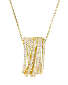 14K/925 Gold plated Silver Necklace With Cubic zirconia.