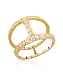 Gold plated Silver Ring With Cubic zirconia