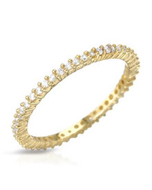 Gold plated Silver Ring With Cubic zirconia.
