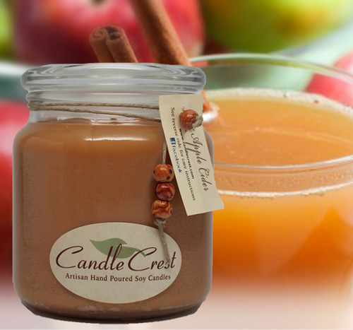 A wonderful blend of apple cider, cinnamon, and nutmeg that will warm the cockles of your heart.