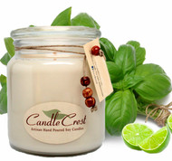 A very clean and fresh scent of citrus and a hint of basil that will freshen up your home.