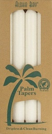 Coconut Wax Taper - White