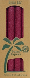 Coconut Wax Taper - Burgundy