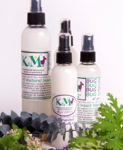 A strong blend of essential oils that keeps deerflies, horseflies and greenheads away from you. The best part is IT REALLY WORKS! We use it for our pets as well…simply spray on a bandana and tie it around their necks or spray directly onto fur.  INGREDIENTS: witch hazel, alcohol, polysorbate 20, menthol crystals and a proprietary blend of essential oils