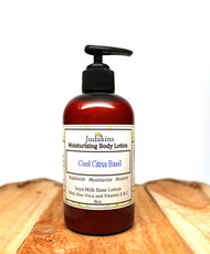 Cool Citrus Basil is a soothing and relaxing scent. Soya Milk Base Lotion with Aloe Vera and Vitamin E & C.  Replenish, Moisturize and Restore!