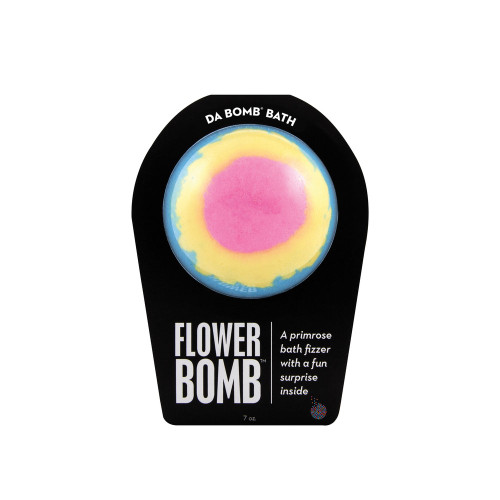 A primrose bath fizzer with a surprise inside  This floral fizzer packs a punch of pure flower power. Perfect for adults and kids alike. (Everyone loves surprises.) Use one bomb per bath.   Warning: Small parts. Not for children under 3.