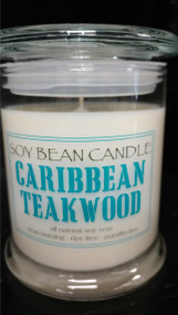 Caribbean Teakwood is masculine, bold, and complex, leading with spicy top notes of ginger, peppercorn, and spice. The middle notes of tobacco leaf and aged teakwood blend into the woody, deep base of sandalwood, amber, and dark musk.  This fragrance is infused with with natural essential oils, including Cedarwood, Patchouli, Black pepper, and Pimento berry.
