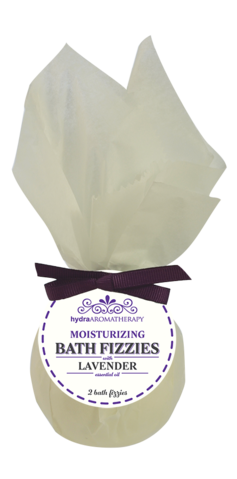 Bath Fizzies are made with all-natural ingredients and pure essential oils.  Sweet Almond Oil leaves skin feeling soft and moisturized. This is the epitome of aromatherapy in the bath. Each package includes two bath fizzies.