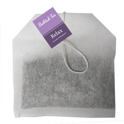 Bathtub Teas are handmade with all-natural herbs, flowers and essential oils, providing all the therapeutic benefits of an herbal bath without the mess. They can be used in the bathtub or as a facial steam. Bathtub Teas fit nicely inside of a greeting card.  Unwind with calming Lavender & Bergamot.  Lavender essential oil has a sweet, herbal aroma with soft underlying florals. Lavender has calming, rejuvenating effects and is an amazing natural antiseptic and antibiotic.  Bergamot essential oil has a soft, citrusy aroma. Bergamot has a calming effect on brain waves, allowing you to forget your troubles and just enjoy the moment.  Ingredients: Chamomile, Lavender, Rosemary, Bay Leaf, Sage, Essential Oil Blend.