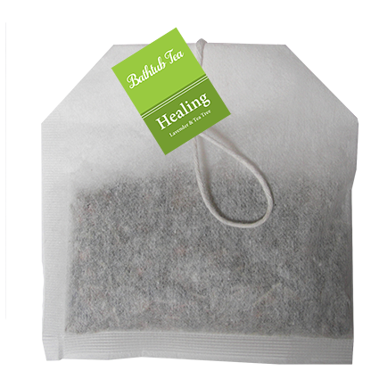 Bathtub Teas are handmade with all-natural herbs, flowers and essential oils, providing all the therapeutic benefits of an herbal bath without the mess. They can be used in the bathtub or as a facial steam. Bathtub Teas fit nicely inside of a greeting card.  Revive with purifying Tea Tree & Lavender.  Lavender essential oil has a sweet, herbal aroma with soft underlying florals. Lavender has calming, rejuvenating effects and is an amazing natural antiseptic and antibiotic.  Tea Tree essential oil has a fresh and herbal aroma that is just a little spicy. Tea Tree has a purifying and uplifting effect on the body and mind and fights bacteria, fungi and viruses.  Ingredients: Lavender, Chamomile, White Willow Bark, Rosemary, Lemongrass, Essential Oil Blend.
