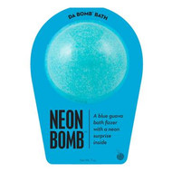 Watch carefully as this blue guava fizzer dissolves, because there's a neon surprise inside. Perfect for adults and kids alike. (Everyone loves surprises.) Use one bomb per bath. Your bath bomb will arrive in our signature packaging, as shown. Warning: Small parts. Not for children under 3.