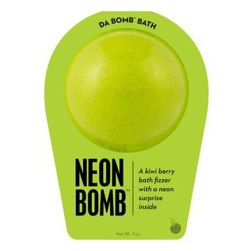 Watch carefully as this kiwi berry fizzer dissolves, because there's a neon surprise inside. Perfect for adults and kids alike. (Everyone loves surprises.) Use one bomb per bath. Your bath bomb will arrive in our signature packaging, as shown.  Warning: Small parts. Not for children under 3.