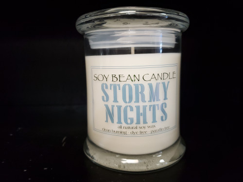 Stormy Nights is an earthy, yet ozonic fragrance blend reminiscent of the way the night smells after a storm.  It begins with top notes of ozone, fresh air, and white flowers; followed by middle notes of ylang ylang and tuberose; and well balanced with base notes of patchouli and musk. Simply electrifying!