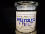 Sweetgrass and Violet fragrance is an accord of fresh cut grass, garden herbs, and wildflowers. Top notes of green grass and bergamot give the scent a crisp outdoorsiness. Aromatic lavender and sage elevate the herbal aspect of the scent, while watery cucumber balances the hint of violet. The fragrance has a touch of oakmoss in the base that adds depth to this fresh and green scent. This summertime fragrance is infused with herb and citrus essential oils, including basil, eucalyptus, peppermint, lemon, and orange.