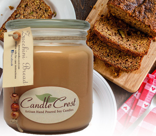 So Delicious! If you love zucchini bread like we do, than this candle may just be for you!  This candle offers the aroma of the classic sweet bread and spices such as cinnamon, sugar and nutmeg, which are blended with garden fresh zucchini to craft this yummy homemade treat. The bakery notes on this scent are amazing – very strong!