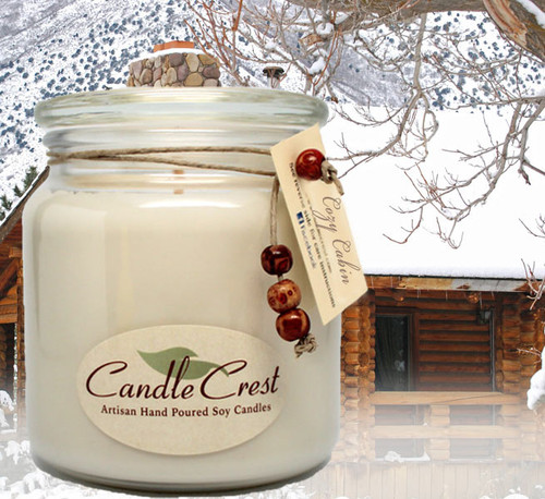 Our Cozy Cabin is a wonderful holiday blend of bayberries and cranberries with a top note of freshly crushed cinnamon bark with hints of orange zests and woody undertones. It may make you feel as though you are spending the holidays nestled into a warm cozy cabin in the woods.