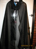 Cheer Black Cape with the hood flipped to the front so you can see it.