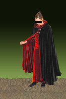 Luxurious Stretch Velvet Reversible Hooded Cape