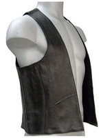 Black Leather Bar Vest  from XS to 5X