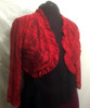 Lovely Red Stretch Lace Shrug to finish off your outfit  with an elegant touch. Or add a touch of warmth, if needed.
