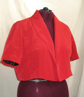 Shrug in Luxurious Peachskin with slightly puffed sleeve. May be orderd lined, or unlined. This one is lined.