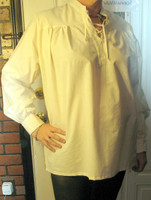 Pirate or Buccaneer Shirt in Cotton Muslin, Made Ren Fair Style.