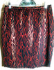 Sassy Skirt in Red Metallic Flames on Black Spandex