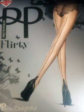 Beautiful Pantyhose with Back Seam and French Back, made of Dernier Hose. •	Dernier hose is run resistant.
