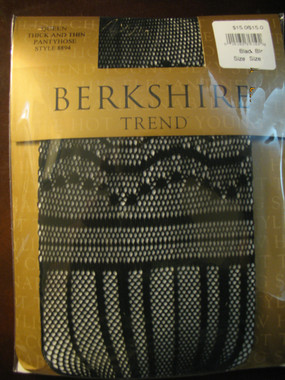 Berkshire Sexy Thick and Thin Patterned Pantyhose, shown in 1X-2X