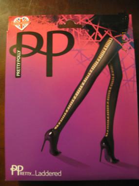 Pretty Polly Laddered Panythose in run resistant dernier hose.