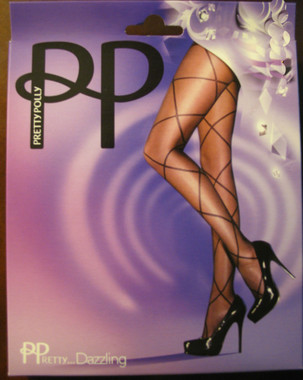 Pretty Polly Dazzling Criss Cross Panythose in run resistant dernier hose.