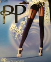 Pretty Polly Suspender Pantyhose ( Looks like Garters!)