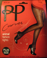 Pretty Polly Animal Print Panythose in run resistant dernier hose.