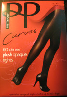 Pretty Polly 60 Dernier Plush Opaque Pantyhose