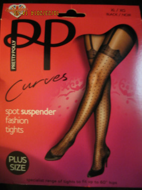 Spot suspender tights in Queen