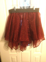 Multilayer Handkercheir Short Skirt in Red and Black