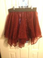 Multilayer Handkercheir Short Skirt in Red and Black