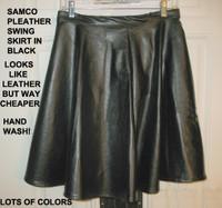 Pleather Swing Skirt