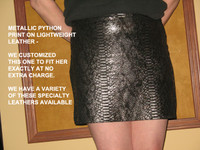 Sassy Skirt in Leather- Python Print on Leather