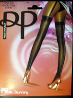 PP-Black and Silver  Suspender Pantyhose