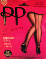 Pretty Polly BackSeam Tights with Bows-Plus Size