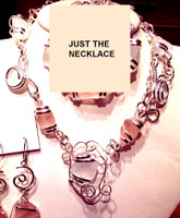 Pink and White Sea Glass Necklace if purchased separately (full set available)