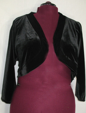 Stretch Velvet Shrug, Unlined